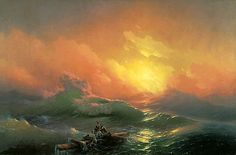 Title: The Ninth Wave, 1850 Artist: Ivan Konstantinovich Aivazovsky Medium: Hand-Painted Art Reproduction