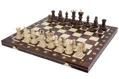 """Chess Set - Ambassador High Detail European Wooden Handmade Set - 21""""x21"""""""