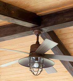 Industrial style ceiling fan