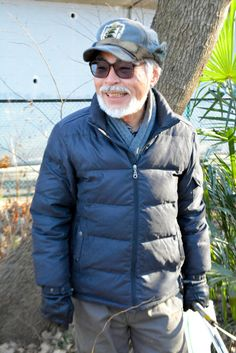 """Hayao Miyazaki the chairman of conservation movement """"Association of Forest edge"""" takes part in the annual forest weeding in Higashimurayama city 19th January 2014."""