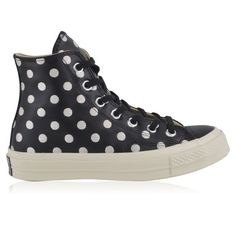 CONVERSE Polka Dot Chuck Taylor All Star 70 (€99) ❤ liked on Polyvore featuring shoes, sneakers, polka dot sneakers, high top leather shoes, high top shoes, leather hi top sneakers and converse sneakers