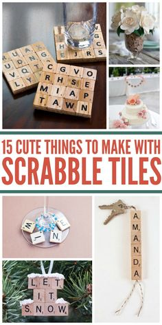 So many creative uses for scrabble tiles, check them all out for yourself.