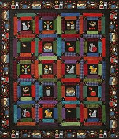 sew purrfect flannel quilt kit bonnie sullivan maywood studio