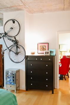 U.S. Army Captain Katie Del Castillou0027s Washington D.C. Apartment Tour  #theeverygirl // Apartment Bike Storage