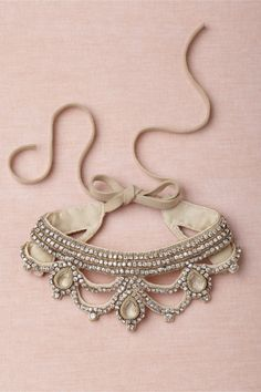 gorgeous statement necklace, great with a strapless down
