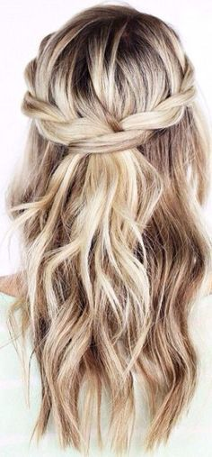 57 Trendy Wedding Hairstyles Half Half Half Half Simple Wedding Hairstyles - New Sites Wedding Hairstyles Half Up Half Down, Wedding Hairstyles For Long Hair, Down Hairstyles, Hair Wedding, Flower Hairstyles, Wedding Beach, Blonde Hairstyles, School Hairstyles, Hairstyle Ideas