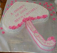 umbrella bridal shower cake