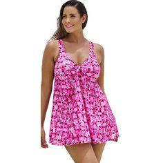 7ba7bb6f94 Beach Belle Palm Garden V-Neck Swimdress   Overstock.com Shopping - The Best