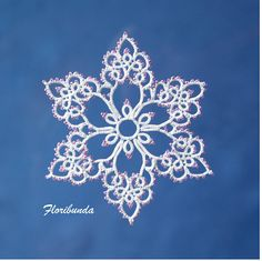 My mother used to grow floribunda roses--multiple small blooms on a single stem. You can make this snowflake or floral piece with or without beads. It includes instructions for working with beads. The pattern is a visual diagram with written instructions for the unusual, but simple