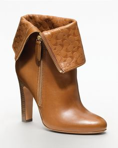 COACH Halia High Heel Signature Embossed Bootie - New Arrivals - Boutiques - Shoes - Bloomingdale's