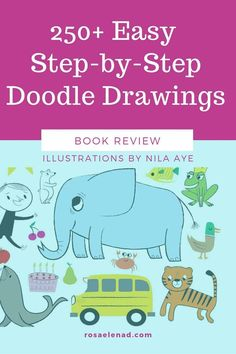 Easy step-by-step doodle drawings Quick Easy Drawings, Reading Benefits, Beginner Books, Drawing For Beginners, Basic Shapes, Doodle Drawings, Step By Step Drawing, Nonfiction Books, Over The Years