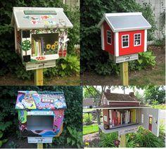 Blog de la Biblioteca Regional de Murcia: Pequeñas bibliotecas libres vs. gnomos de jardín