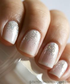 Subtle Sparkly Nails. Perfect For The Holidays.