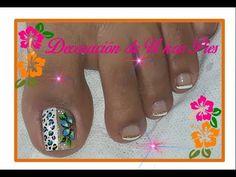 Diseño de uñas Pies de flores FACIL / Easy flowers Toenail art - YouTube Pretty Toe Nails, Pretty Toes, Fun Nails, Pedicure, Simple Designs, Hair Beauty, Salmon, Youtube, Pretty Pedicures