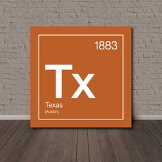 Texas Periodic Table Canvas Wall Art