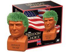 Amazon.com : Chia Donald Trump Freedom of Choice Pottery Planter : Patio, Lawn & Garden
