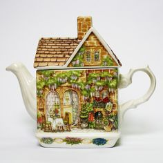 #52 - 'Wysteria Cottage'. Another Country Cottage by James Sadler. http://www.tealeaves.com.au/new-teapots/w1/i1066859/