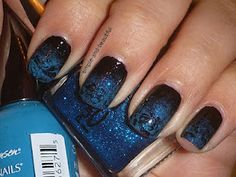 Sinful Colors Black on black, Sally Hansen Blue Me Away, Pure Ice Strapless