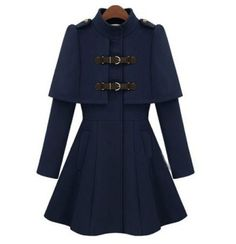 Capelet coat.