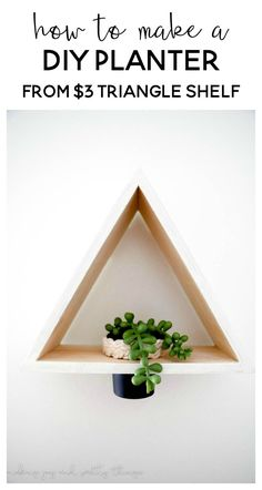 DIY Triangle Shelf P