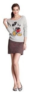 Super fun sweatshirt by Marc Jacobs, dressed up with a classic Kate Spade skirt..super affordable fashion