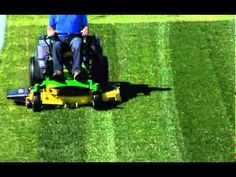 how to stripe your lawn using a riding mower