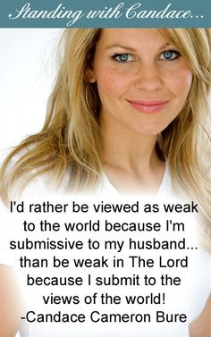 Standing with Candace. The opinion of God is what matters most.