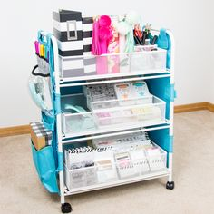 I Love How This Cart Organizes So Many Craft Supplies