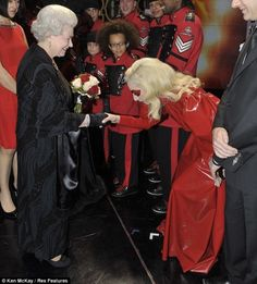 Lady Gaga meets the Queen.