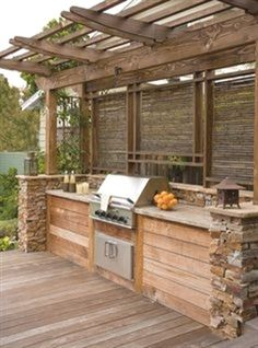Grill Station design ideas for your backyard. #grilldesign #grillstations - Built In Grill Design, Pictures, Remodel, Decor and Ideas. http://comfydwelling.com/outdoor-decor/60-adorable-outdoor-kitchens-youll-never-want-to-leave.html?utm_content=buffer2c08d&utm_medium=social&utm_source=pinterest.com&utm_campaign=buffer