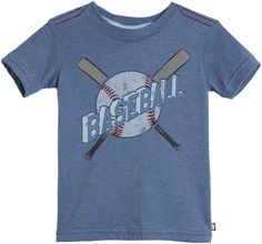 City Threads Baseball Vintage S/S Tee - Smurf Super Soft Heathered Jersey Tee with Vintage Baseball Graphic. Machine Wash Cold, Tumble Dry Low, Made in the USA.