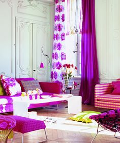 Beautiful, colorful curtains