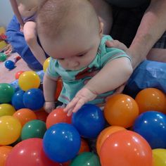 First Sensory Experiences:  What age is best? from Fun at Home with Kids