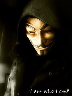 I am who I am | Anonymous ART of Revolution