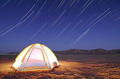 Meteor Showers and Star Trails Over the Blackrock Desert by Waheed Akhtar