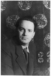"""Thomas Clayton Wolfe (October 3, 1900 – September 15, 1938) was a major American novelist of the early 20th century.... known for mixing highly original, poetic, rhapsodic, and impressionistic prose with autobiographical writing. His books ... published from the 1920s to the 1940s, reflect vividly on American culture and mores of the period, albeit filtered through Wolfe's sensitive, sophisticated and hyper-analytical perspective....  He is considered North Carolina's most famous writer."""