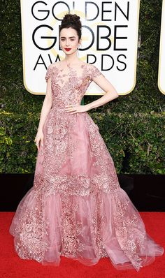 Golden Globes 2017: The Best Red Carpet Looks via @WhoWhatWear- lily collins