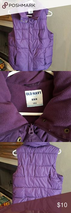 Old Navy Purple Old Navy vest in gently used condition. Please ask questions Old Navy Jackets & Coats Vests