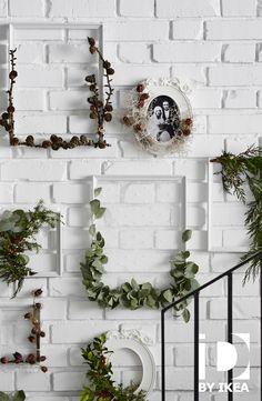 Natuurlijke kerstdecoratie. Ontdek onze DIY-ideeën voor een groene kerst. Kader KNOPPÄNG #IKEABE #IKEAidee
