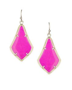 Alex Earrings in Magenta - Kendra Scott Jewelry. Now available!