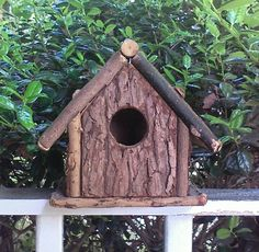 #rustic #birdhouse Check out this item in my Etsy shop https://www.etsy.com/listing/191901970/birdhouse-rustic-brown-wood-bark