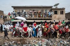 The most colourful and spectacular festivals of 2016:       Eid al-Fitr:   The Emir of Kano, Muhammadu Sanusi II, rides a horse as he parades with his entourage and musicians on the streets of Kano, northern Nigeria, during the Durbar Festival celebrating Eid al-Fitr, which marks the end of the Islamic holy fasting month of Ramadan, on 6 July 2016.   Stefan Heunis/AFP
