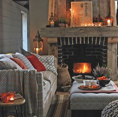 Living Room Ideas Cozy How To Make.Cozy Living Room Designs With Fireplaces Defined By Sunken . Cozy Living Room Designs With Fireplaces Defined By Sunken . Home and Family Cottage Living Rooms, Cottage Interiors, Home And Living, Living Spaces, Apartment Living, Cozy Apartment, Cottage Kitchens, Rustic Interiors, Simple Living