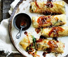 Vegetable bean curd rolls recipe - By Australian Women's Weekly, These delicious vegetable bean curd rolls are so full of flavour. And they're completely meat free too!
