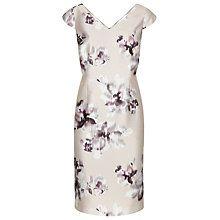 Buy Jacques Vert Floral Print Shift Dress, Mid Neutral Online at johnlewis.com