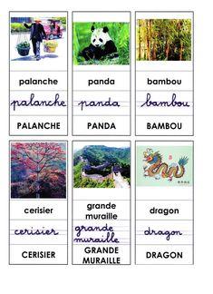 Lexique présenté dans les 3 graphies: palanche, panda, bambou, cerisier, grande muraille, dragon  - lexique2.docx  - lexique2.pdf