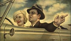 Danny Galieote, known for his Pop American Regionalism contemporary & figurative art. Vintage Humor, Vintage Posters, La Art, Prints For Sale, Oil On Canvas, Giclee Print, Artsy, Illustration, Artwork