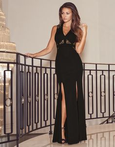 Michelle Keegan Lace Panel Maxi Dress | Lipsy | Michelle Keegan