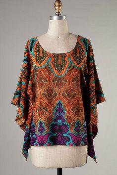 Terra Cotta Paisley Top #dress #top #fashion amusemeboutique.com