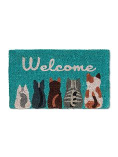 (Sponsored Link) Abbott Collection 1905 Cat Welcome L, (Welcome Cats) Union Jack, Cool Doormats, Entrance Door Mats, Carpet Manufacturers, Table Cafe, Sweet Home Collection, Cats For Sale, Cat Mouse, Coir